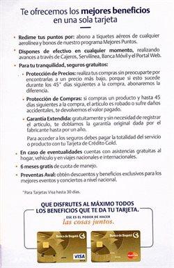 Ofertas de Bancos y seguros en el catálogo de Banco de Bogotá ( Más de un mes )