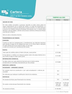 Ofertas de Cartera en Banco Popular
