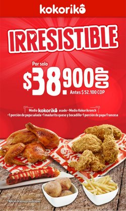 Ofertas de Restaurantes en el catálogo de Kokoriko en Cúcuta ( 2 días más )