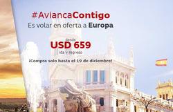 Ofertas de Viajes a Europa  en el catálogo de Avianca en Bogotá