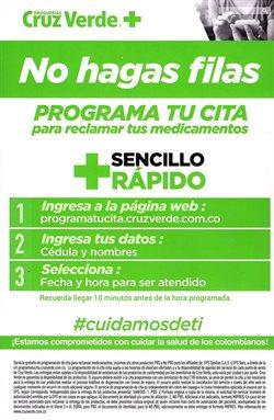 Catálogo Cruz verde en Cartagena ( Más de un mes )