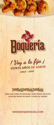 Catálogo Restaurante La Boquería ( Más de un mes )