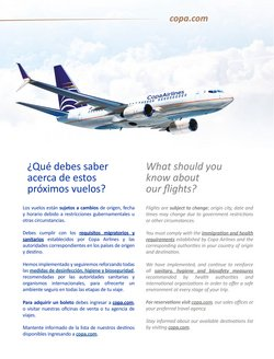 Ofertas de Destinos en Copa Airlines