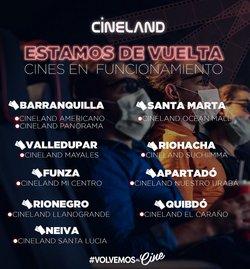 Catálogo Cineland en Bogotá ( Caducado )