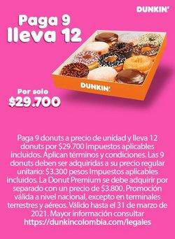 Ofertas de Restaurantes en el catálogo de Dunkin Donuts en Manizales ( Más de un mes )