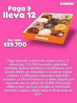 Ofertas de Restaurantes en el catálogo de Dunkin Donuts en Circasia ( Más de un mes )