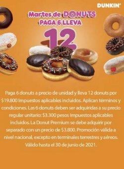Ofertas de Restaurantes en el catálogo de Dunkin Donuts ( Más de un mes )