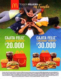 Ofertas de Restaurantes en el catálogo de McDonald's en Yumbo ( Más de un mes )