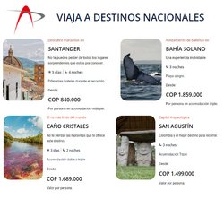 Ofertas de Viajes en el catálogo de AeroViajes Pacífico ( Más de un mes)