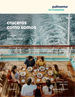 Catálogo Pullmantur Cruceros ( Más de un mes )