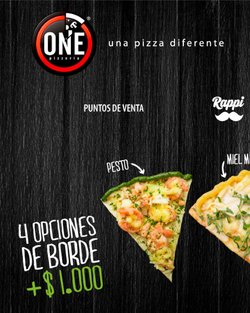 Catálogo One Pizzeria ( Caduca hoy )