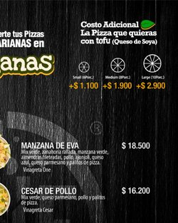 Ofertas de Cesar en One Pizzeria