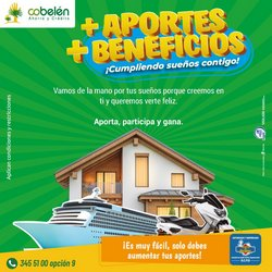 Ofertas de Bancos y seguros en el catálogo de Cobelén en Girardota ( Más de un mes )