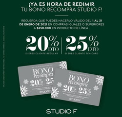 Cupón Studio F en Medellín ( 10 días más )