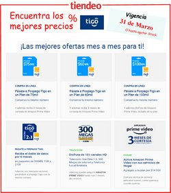 Ofertas de Informática y electrónica en el catálogo de Tigo en Cúcuta ( 23 días más )