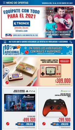 Ofertas de Nintendo Switch en Ktronix