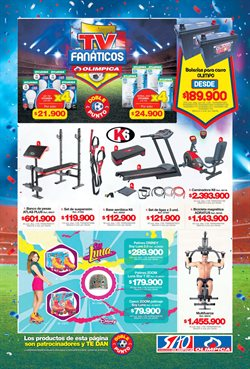 Ofertas de Fitness  en el catálogo de Super Almacenes Olímpica en Bogotá
