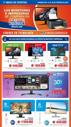 Ofertas de Tiendas departamentales en el catálogo de Alkosto en Bogotá ( Caduca hoy )