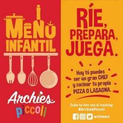 Catálogo Archie's Pizza en Cartagena ( Más de un mes )