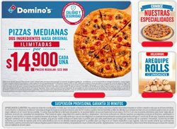 Ofertas de Pizza en Domino's Pizza