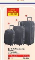Oferta de Set de maletas Omega por $30