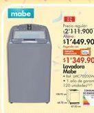 Oferta de Lavadora Mabe por $1449.9