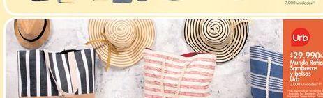 Oferta de Sombreros y bolsos por $29.99