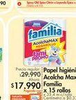 Oferta de Papel higiénico Familia por $17.99
