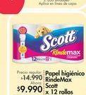 Oferta de Papel higiénico Scott por $9.99