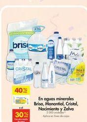 Oferta de Aguas minerales  por