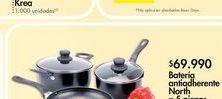 Oferta de Batería de cocina North x5 piezas por $69.99