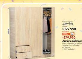 Oferta de Armario ropero Milenium por $399.99