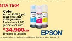 Oferta de Cartuchos de tinta Epson por $34900