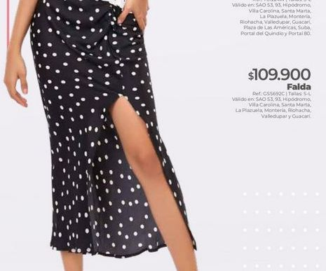 Oferta de Falda estampada por $109900