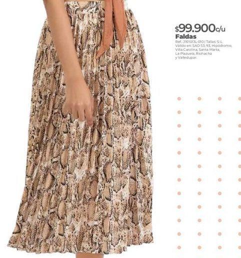 Oferta de Falda plisada por $99900