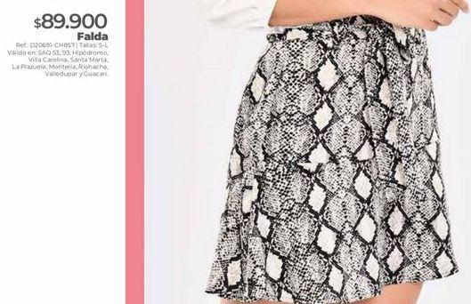Oferta de Falda estampada por $89900
