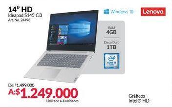 Oferta de Computador Portátil Lenovo por $1249000