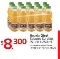 Oferta de Bebidas de sabores Cifrut por $8300