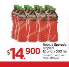 Oferta de Bebida isotónica Sporade por $14900