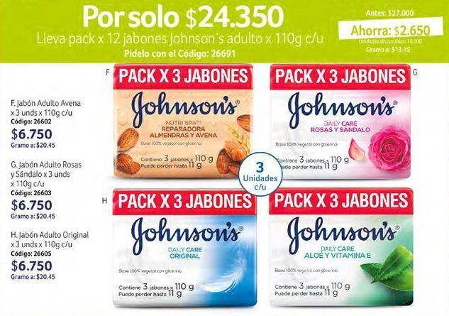 Oferta de Jabón de tocador Johnson's por $24350