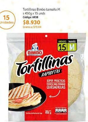 Oferta de Tortilla Bimbo por $8930