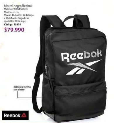 Oferta de Morral Reebok por $79990