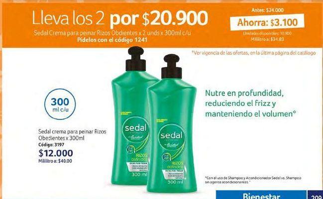 Oferta de Hidratante de cabello Sedal por $20900