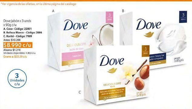 Oferta de Jabón de tocador Dove por $8990