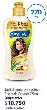 Oferta de Hidratante de cabello Savital por $10750