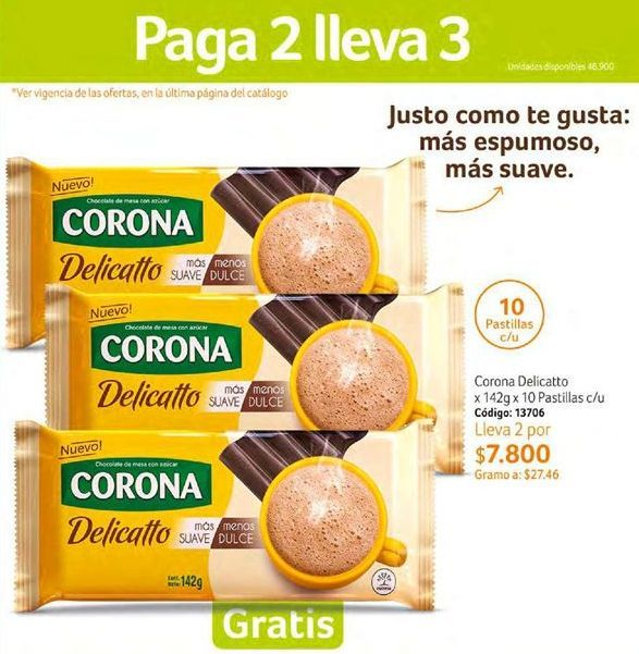 Oferta de Chocolate Corona por $7800