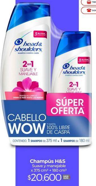 Oferta de Shampoo H&S por $20600