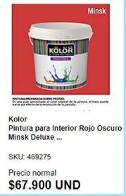 Oferta de Pintura interior Kolor por $67900
