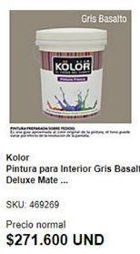 Oferta de Pintura interior Kolor por $271600