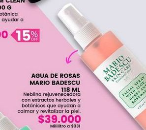 Oferta de Agua de rosas Mario Badescu por $39000